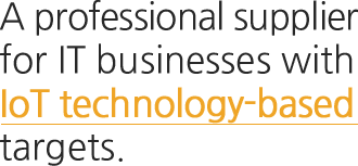 A professional supplier for IT businesses with IoT technology-based targets.